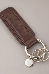 Bottega Veneta Intrecciato Key Chain, Brown - Lyst