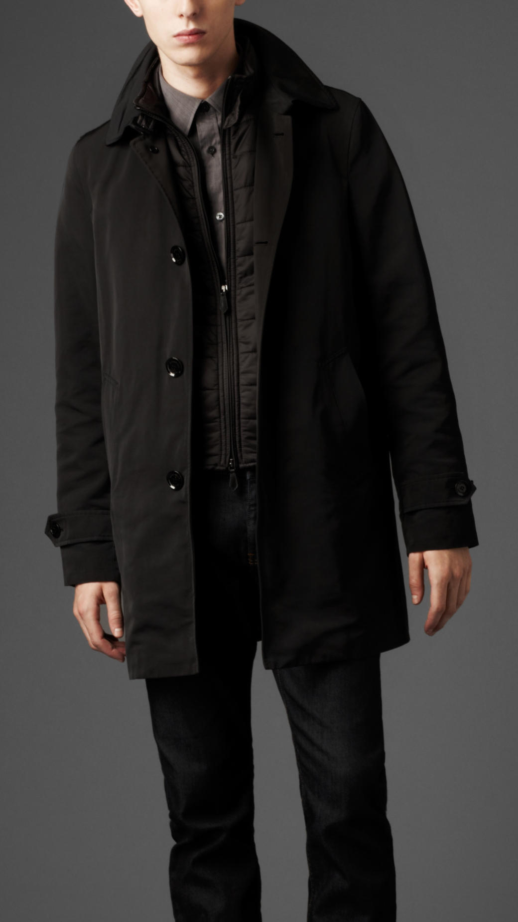 Black Car Coat - Black Coat
