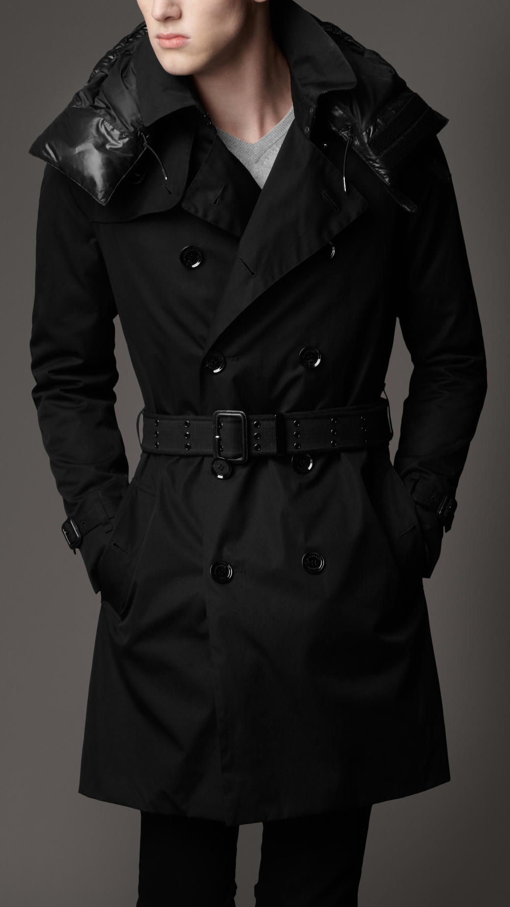 black trench coat with hood - photo #21