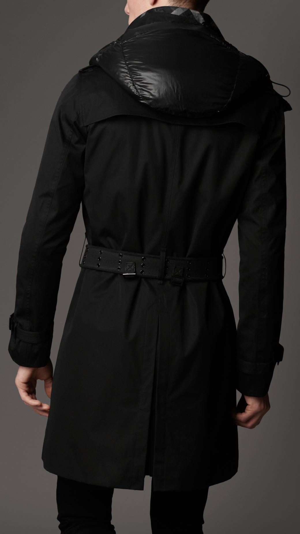 New Style Mens Trench Coat Fashion Single Breasted ...   Mens Trench Coat With Hood