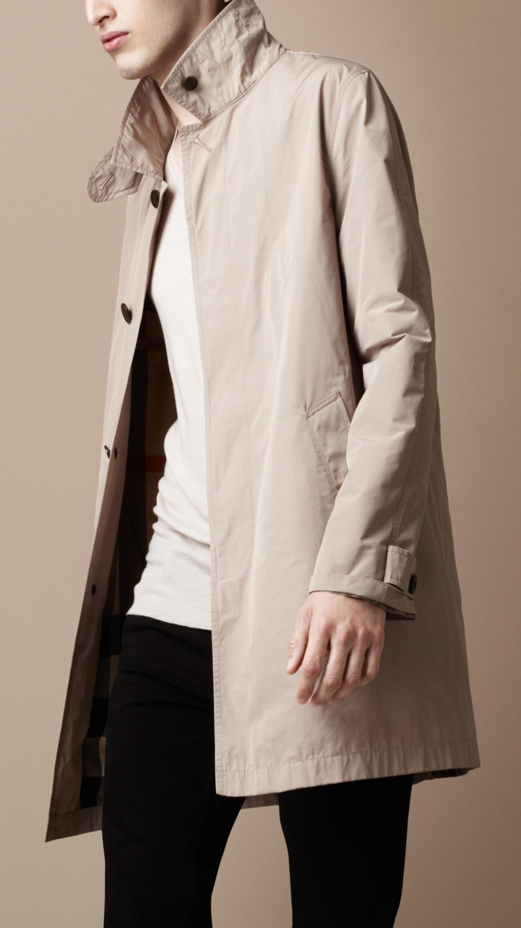 Burberry brit Showerproof Trench Coat in Natural for Men | Lyst