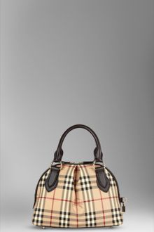 Burberry Small Haymarket Check Bowling Bag - Lyst