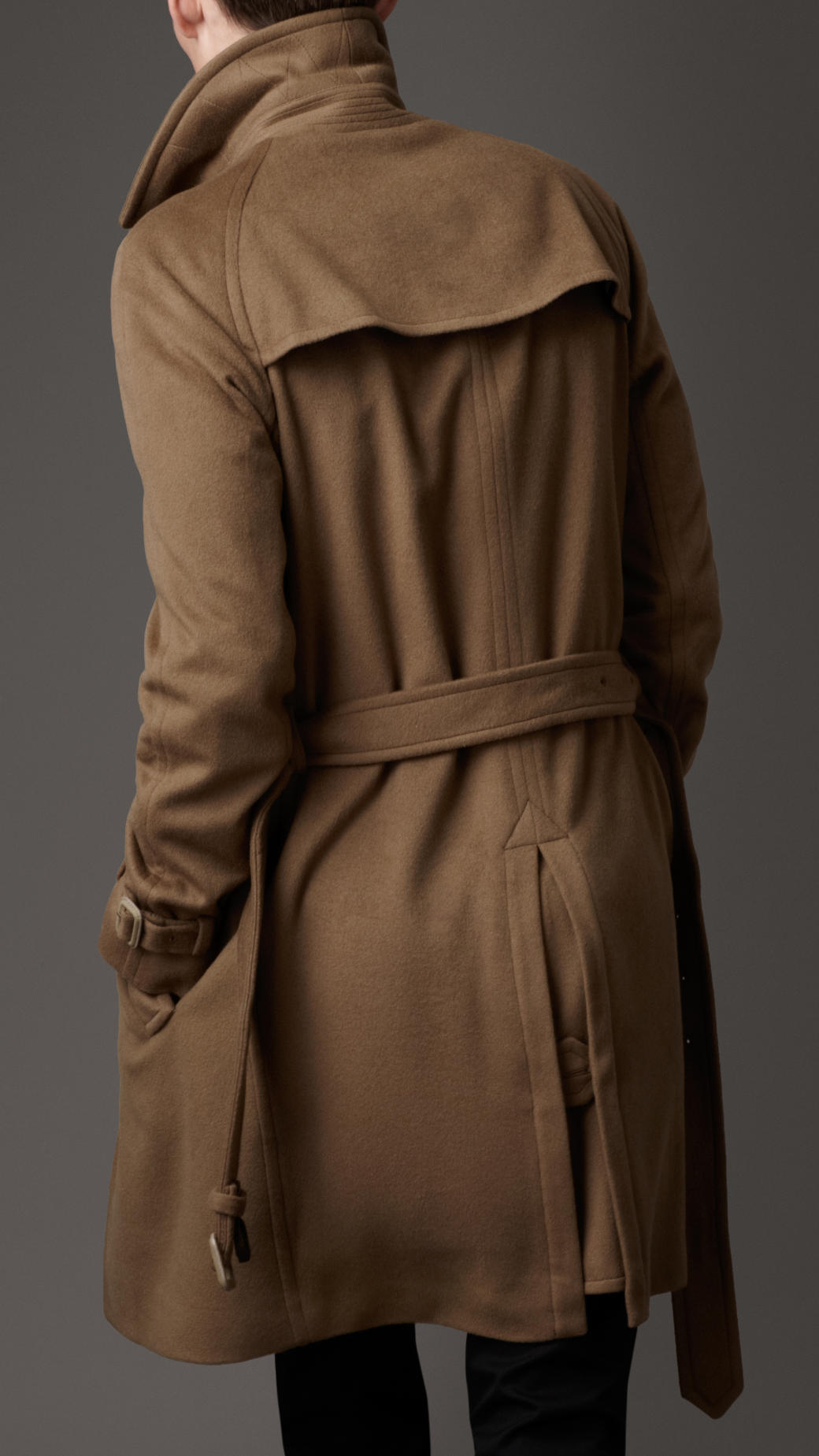 Burberry Fine Cashmere Trench Coat In Brown For Men Lyst