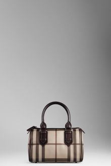 Burberry Small Smoked Check Bowling Bag - Lyst