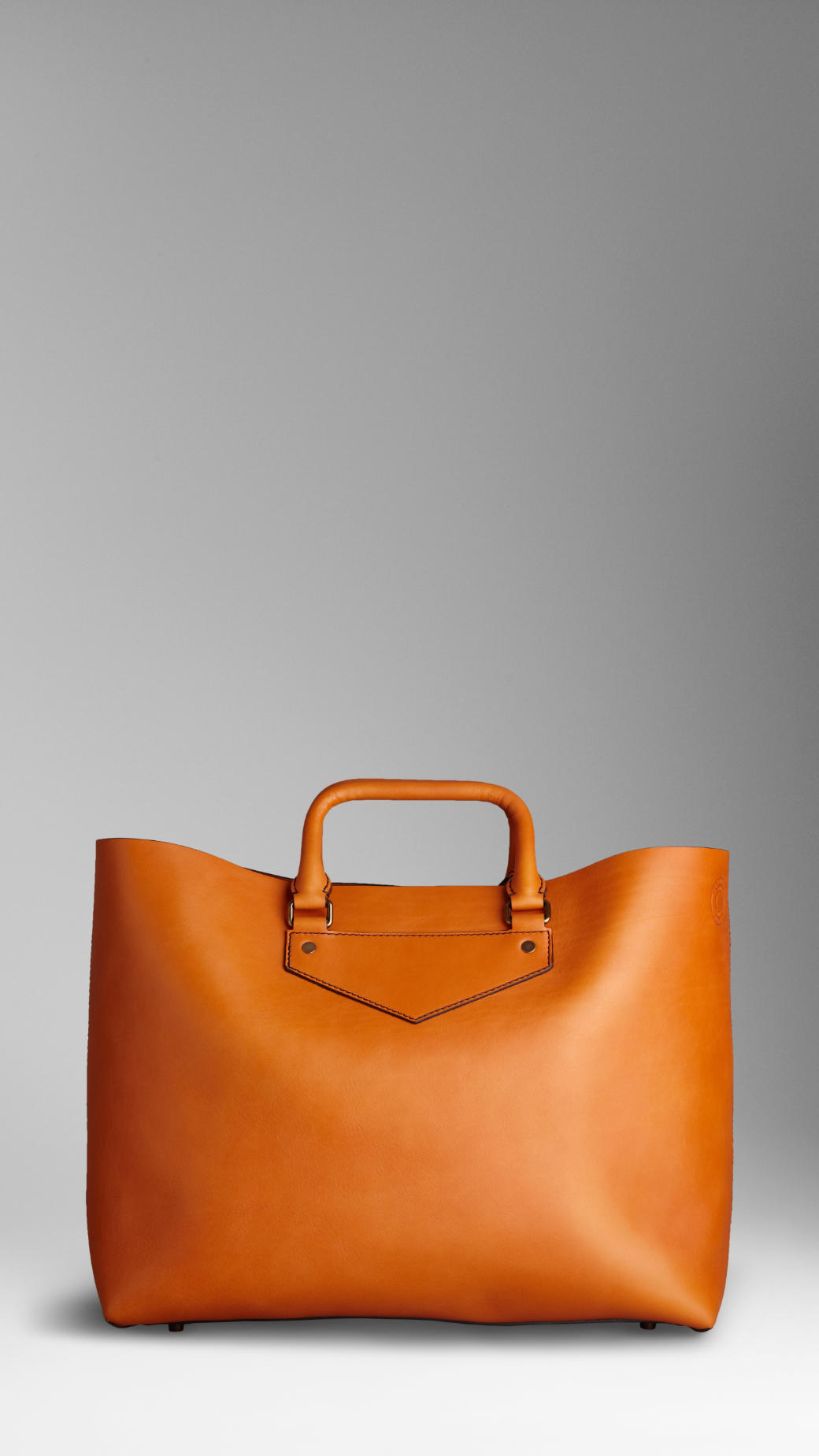 Burberry Large Leather Landscape Tote in Orange for Men - Lyst 24f084ddc1a25