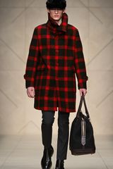 Burberry Prorsum Check Felted Wool Oversize Sculptural Coat - Lyst