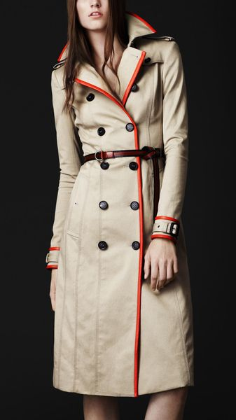Burberry Prorsum Stretch Gabardine Trench - Lyst