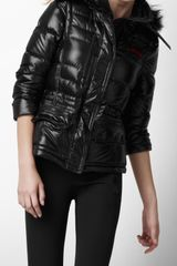 Burberry Sport Fur Trim Ski Jacket - Lyst