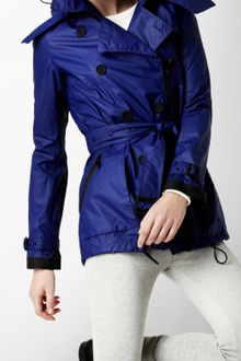 Burberry Sport Hooded Sport Trench Coat - Lyst