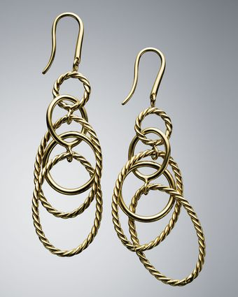 David Yurman Mobile Chain Earrings - Lyst