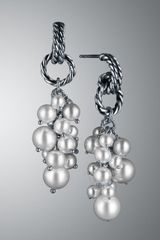 David Yurman Pearl Cluster Copella Earrings - Lyst