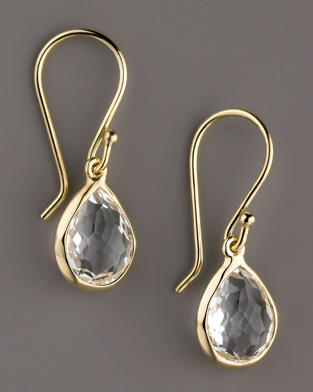 f0f65d59d Ippolita Rock Candy Teeny Teardrop Earrings, Clear Quartz in ...