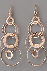 Ippolita Rose Gold Multi-link Jet-set Earrings, Mini - Lyst