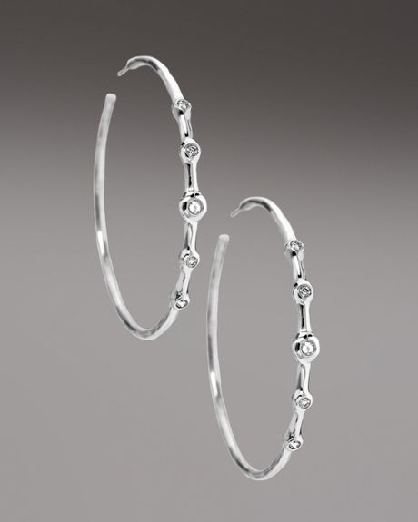 Ippolita Fivestation Diamond Earrings in Silver - Lyst