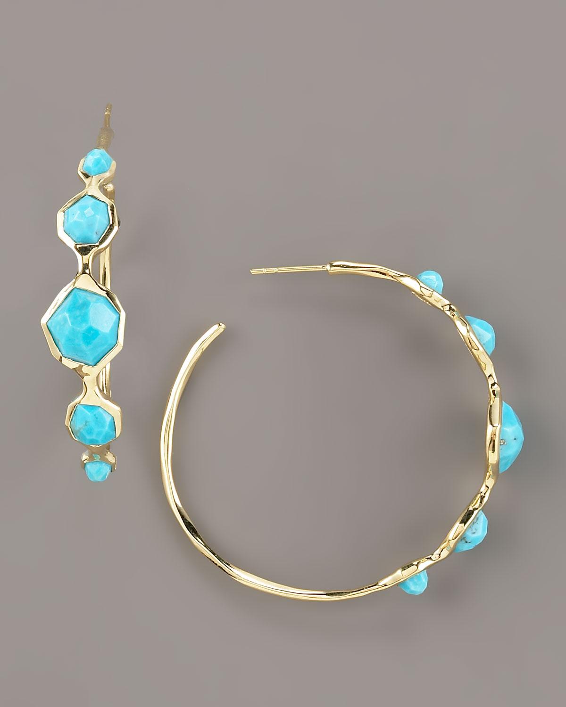 ippolita hoop earrings turquoise in blue turquoise lyst. Black Bedroom Furniture Sets. Home Design Ideas