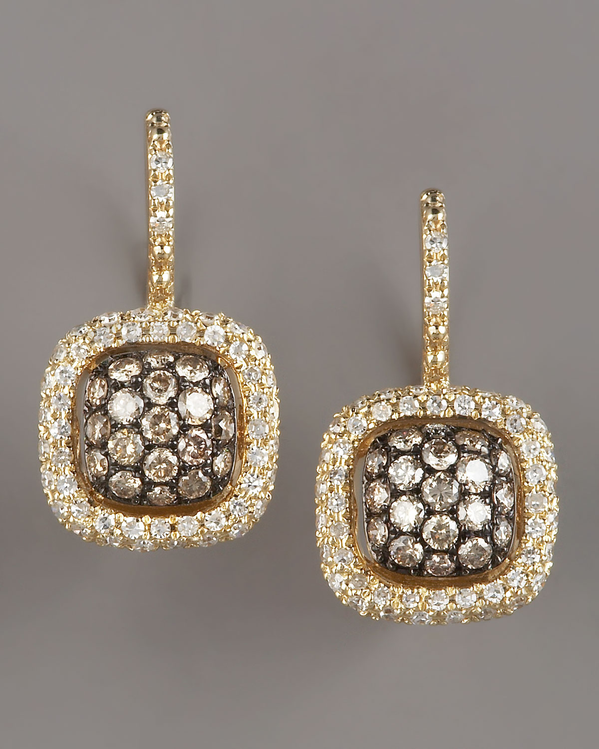 Kc Designs Champagne Amp White Diamond Earrings Yellow In
