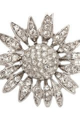 Kenneth Jay Lane Crystal Daisy Ring