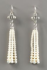 Lagos Luna Pearl-tassel Earrings - Lyst