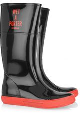 Moschino Cheap & Chic Wet-A-Porter Patent-Rubber Boots