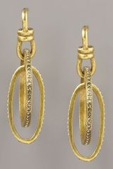 Paige Novick Pave Oval Hoop Earrings - Lyst