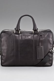 Prada Leather Briefcase - Lyst