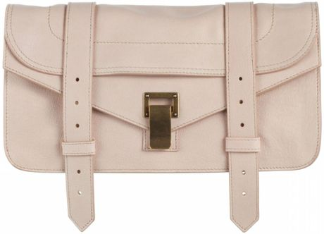 Proenza Schouler Ps1 Pochette Leather in Beige (nude) - Lyst