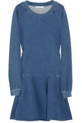 See By Chloé Denim-effect Cotton-blend Jersey Dress - Lyst