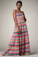T-bags Tiered Zigzag Maxi Dress - Lyst