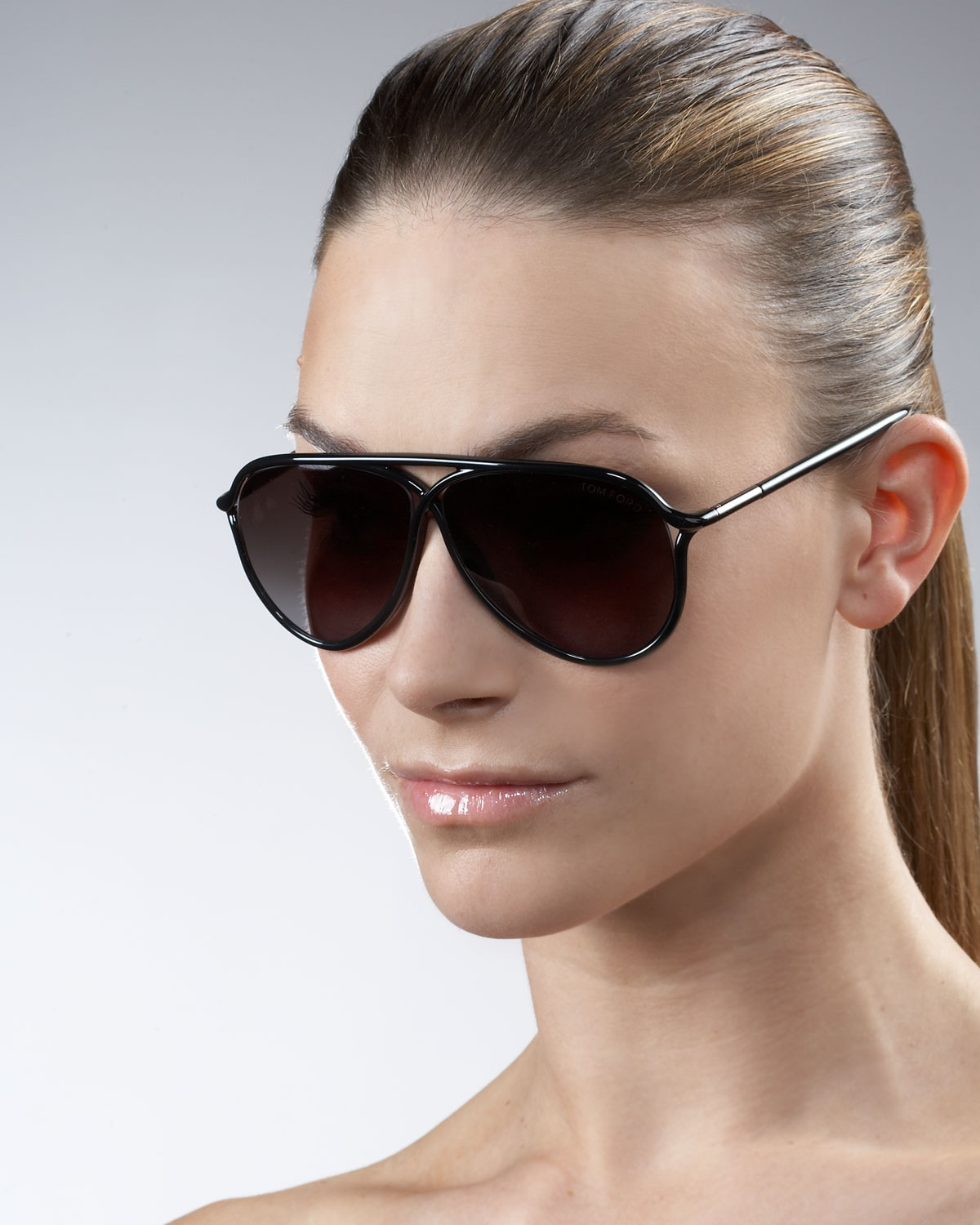 Tom Ford Maximillion Oversized Aviator In Black Lyst