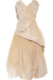 Vivienne Westwood Gold Label Bronze Silk-taffeta and Tulle Dress - Lyst