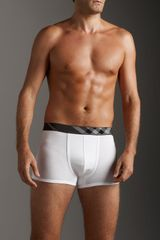 Burberry Boxer Brief with Check Trim, White - Lyst