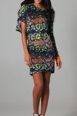 Cut25 Techno Tribal Print Asymmetrical Dress - Lyst