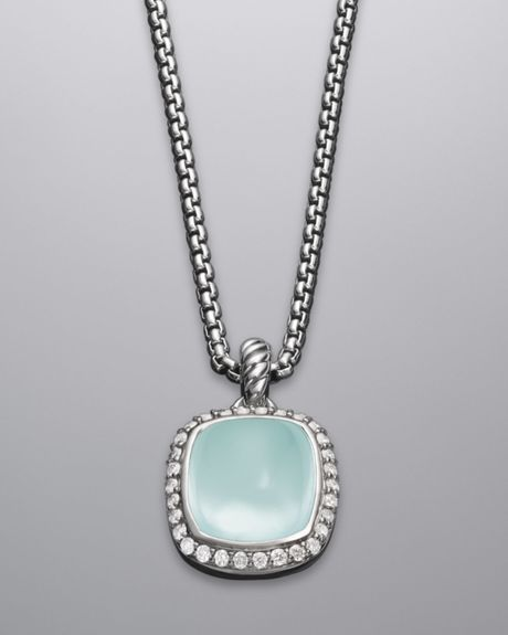 David Yurman Noblesse Necklace, Aqua Chalcedony in Blue (aqua) - Lyst