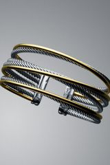 David Yurman Four-Row Crossover Bracelet - Lyst
