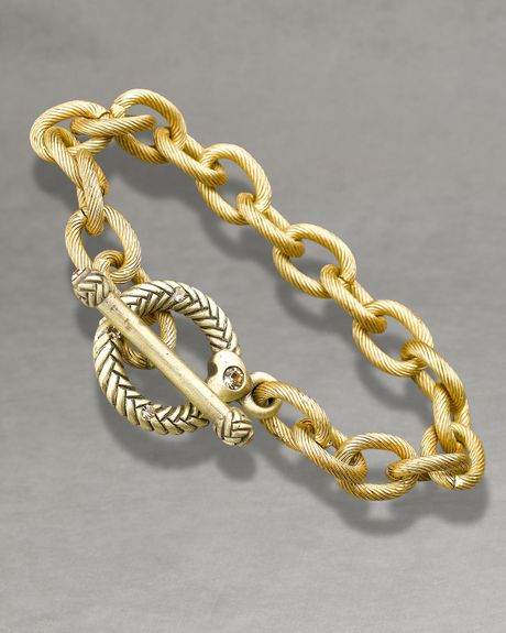 Jay Strongwater Rhodes Toggle Bracelet, 8 in Gold (null) - Lyst