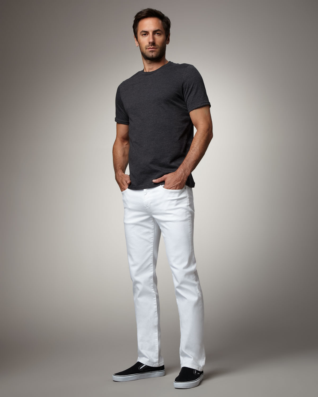 06827e60 Joe's Jeans Brixton Optic White Jeans in White for Men - Lyst