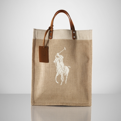 Ralph Lauren Big Pony Canvas Handbag Pink