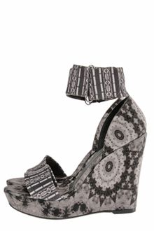 Theodora & Callum Mustique Printed Wedge Sandals - Lyst
