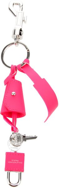 Balenciaga Leather Key Ring in Pink - Lyst