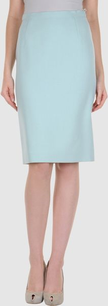 Celine Knee Length Skirt in Blue (green) - Lyst