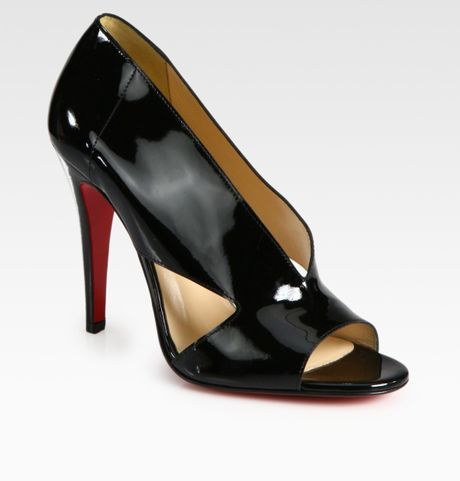 Christian Louboutin Creve Couer Patent Leather Sandals in Black - Lyst