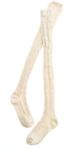 Madewell Over-the-Knee Cableknit Socks - Lyst