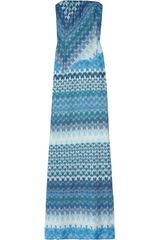 Missoni Strapless Crochet-knit Gown - Lyst
