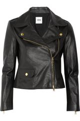 Moschino Cheap & Chic Leather Biker Jacket - Lyst