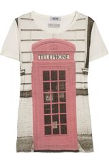 Moschino Cheap & Chic Phone Booth-print Cotton-jersey T-shirt - Lyst