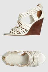 Tory Burch  Wedges in White - Lyst