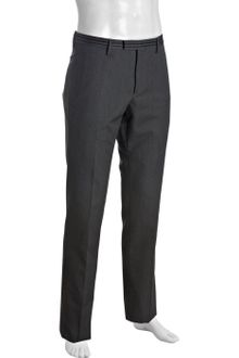 Gucci Dark Grey Wool-cotton Flat Front Pants - Lyst