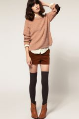 Le Mont St Michel  Button Shoulder Jumper with Suede Elbow Patches