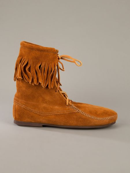 Minnetonka Moccasin Boot In Brown For Men Lyst