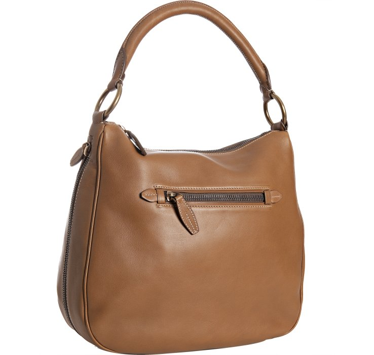 Prada Leather Zipper Shoulder Bag in Brown (cinnamon) | Lyst